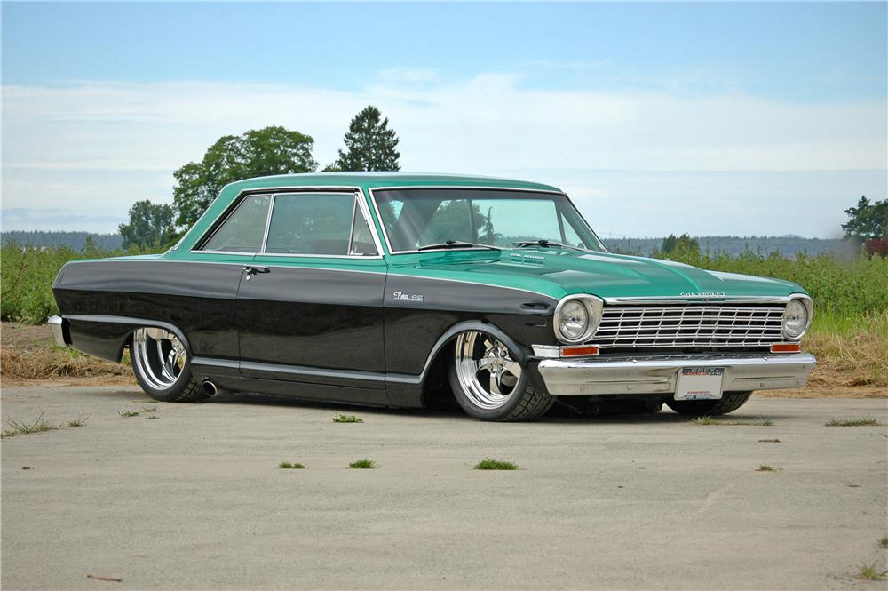 1964 CHEVROLET NOVA CUSTOM 2 DOOR HARDTOP - Front 3/4 - 174636
