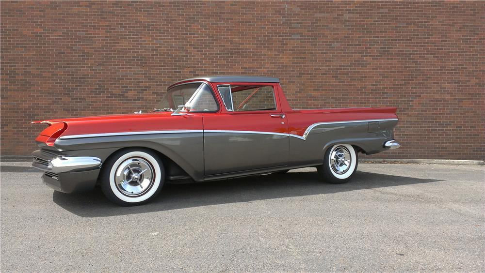 1957 FORD RANCHERO CUSTOM PICKUP - Side Profile - 174641