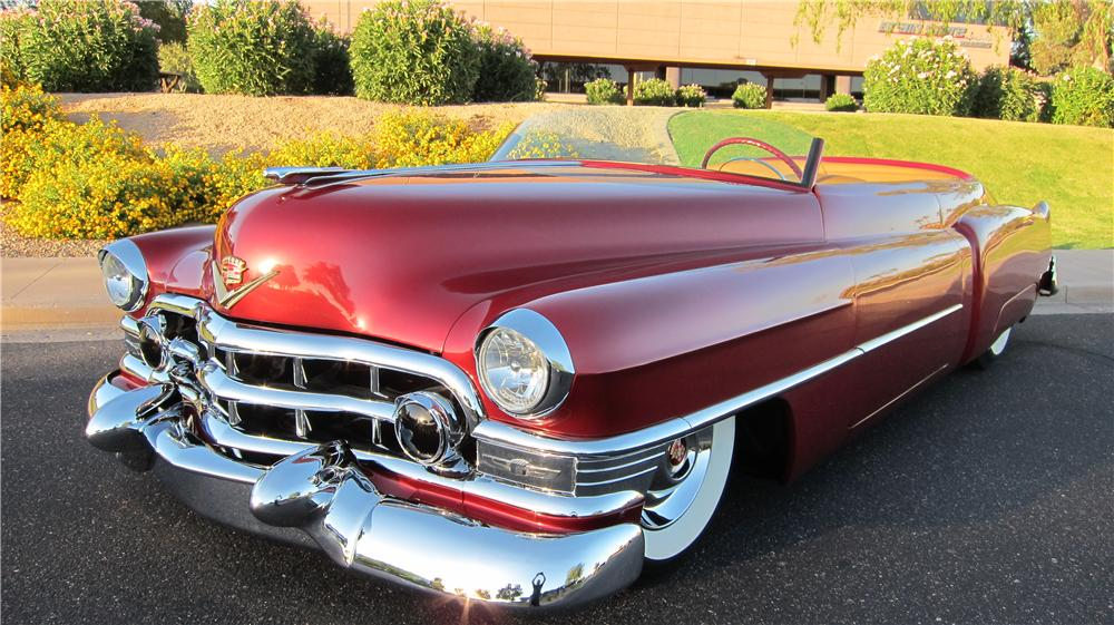 1952 CADILLAC CUSTOM TOPLESS ROADSTER - Front 3/4 - 174660