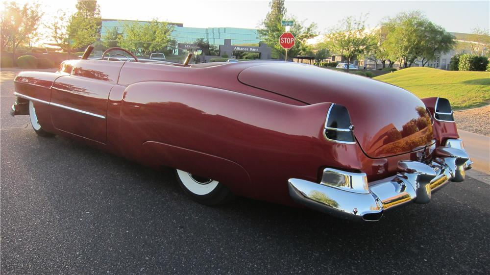 1952 CADILLAC CUSTOM TOPLESS ROADSTER - Rear 3/4 - 174660