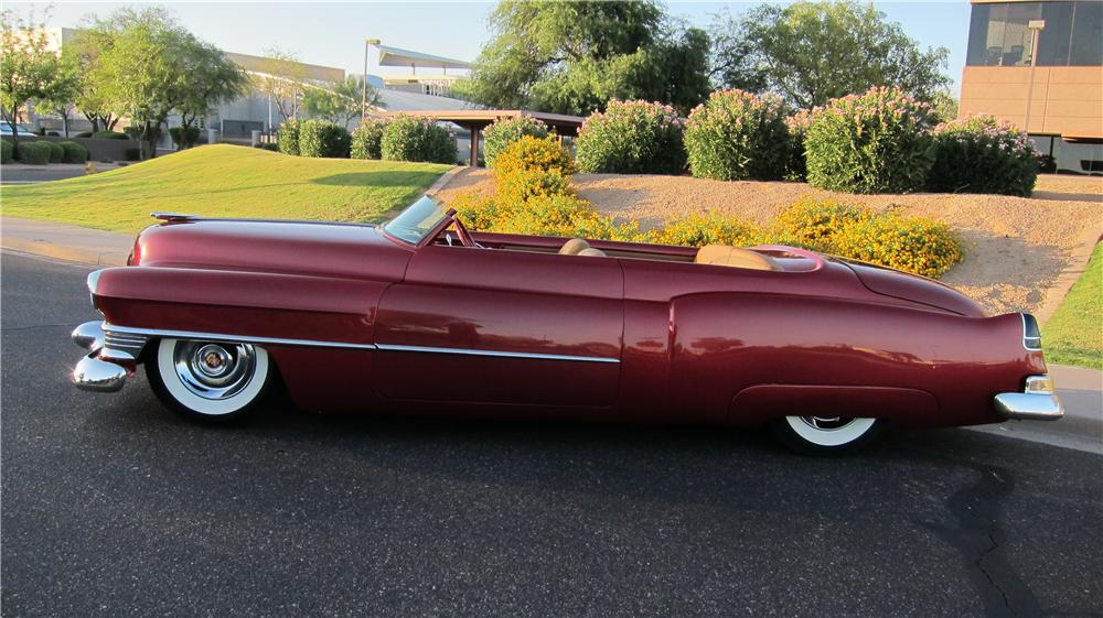 1952 CADILLAC CUSTOM TOPLESS ROADSTER - Side Profile - 174660