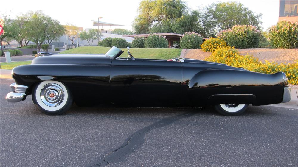 1949 CADILLAC CUSTOM TOPLESS ROADSTER - Side Profile - 174663