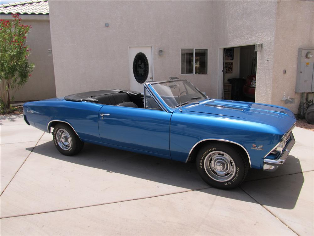 1966 CHEVROLET CHEVELLE SS 396 CONVERTIBLE - Side Profile - 174667