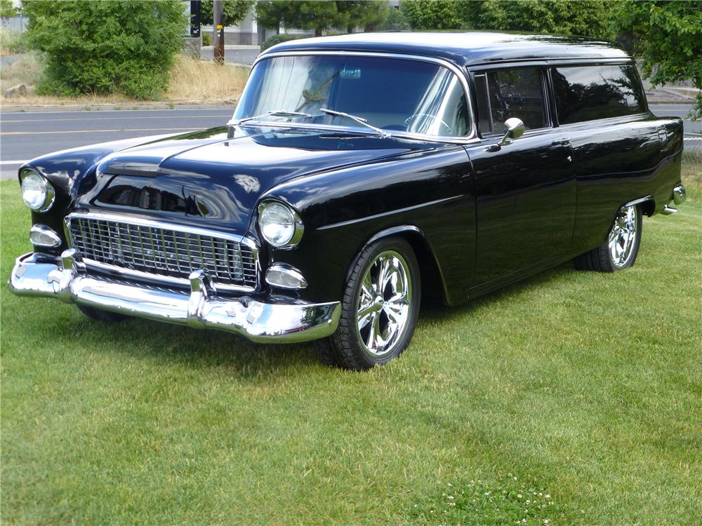 1955 CHEVROLET SEDAN DELIVERY CUSTOM WAGON - Front 3/4 - 174669