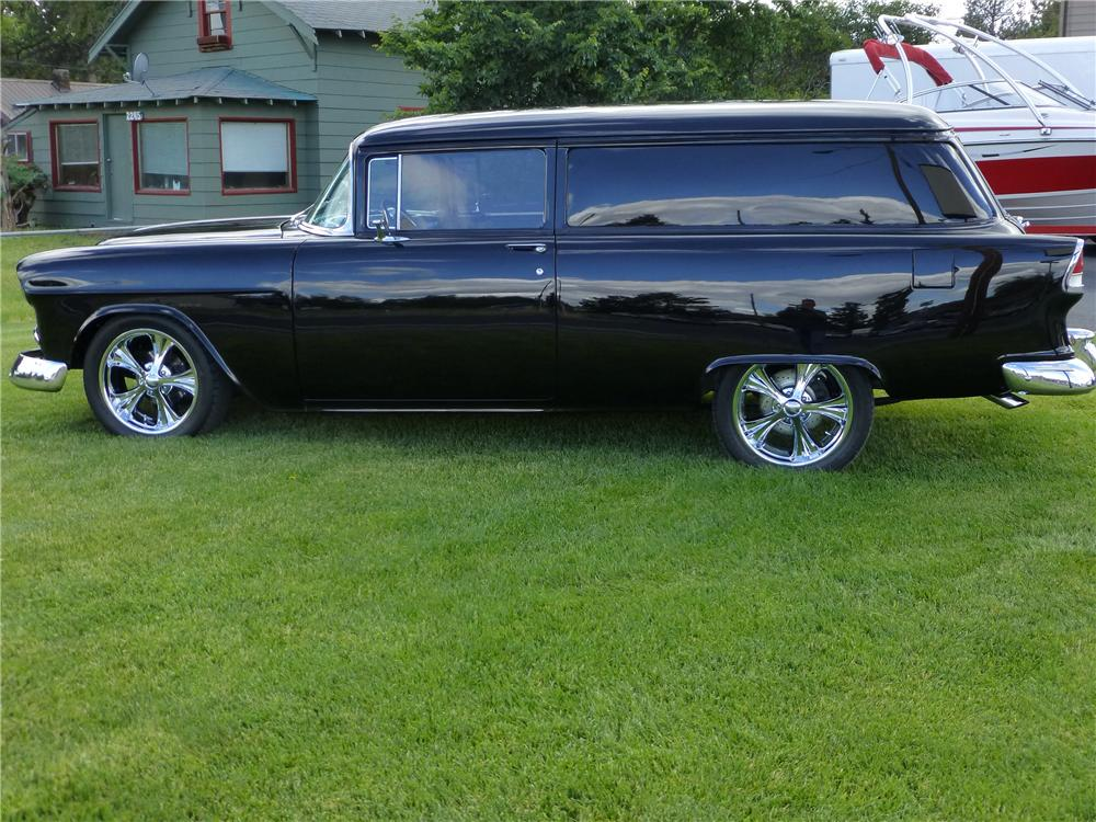1955 CHEVROLET SEDAN DELIVERY CUSTOM WAGON - Side Profile - 174669
