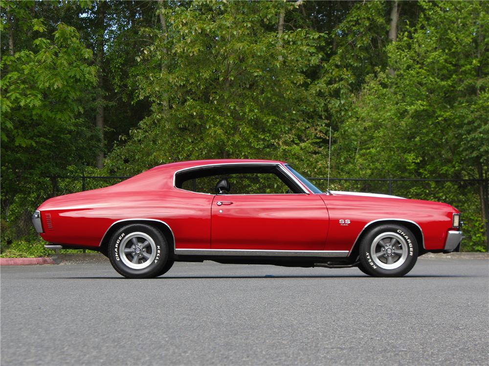 1972 CHEVROLET CHEVELLE SS 454 2 DOOR HARDTOP - Side Profile - 174711