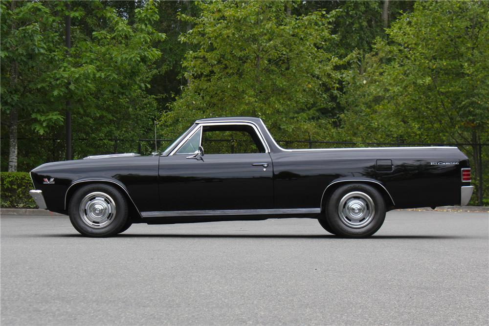 1967 CHEVROLET EL CAMINO CUSTOM PICKUP - Side Profile - 174712