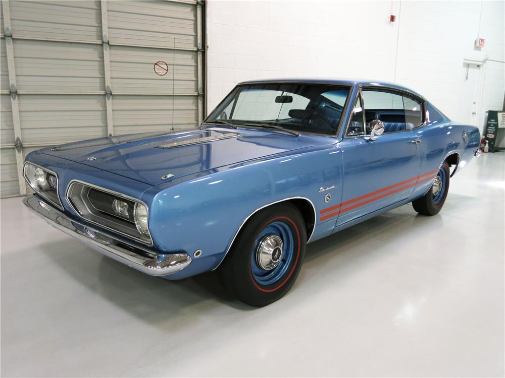 1968 PLYMOUTH BARRACUDA FORMULA S FASTBACK - Front 3/4 - 174723