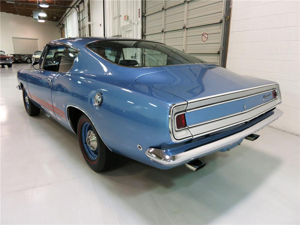 1968 PLYMOUTH BARRACUDA FORMULA S FASTBACK - Rear 3/4 - 174723