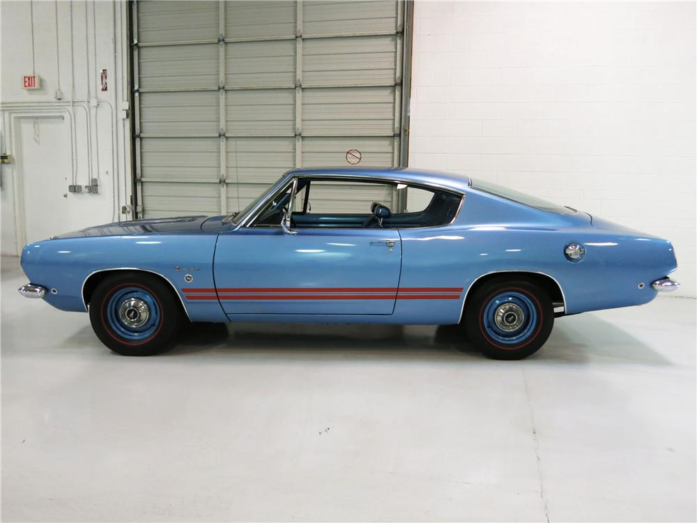 1968 PLYMOUTH BARRACUDA FORMULA S FASTBACK - Side Profile - 174723