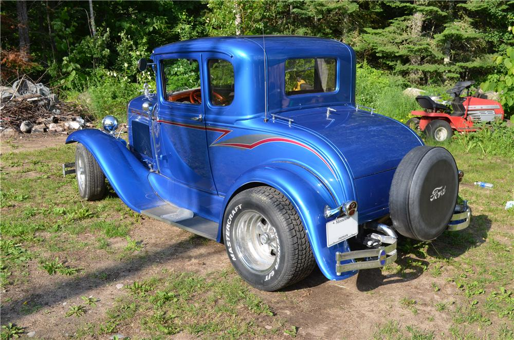 1931 FORD MODEL A CUSTOM COUPE - Rear 3/4 - 174732