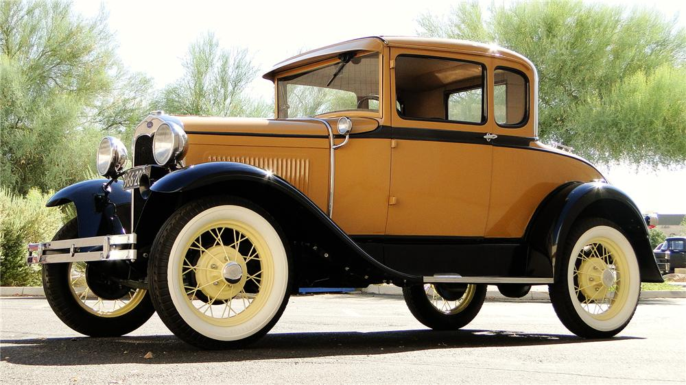 1930 FORD MODEL A RUMBLE SEAT COUPE - Side Profile - 174750