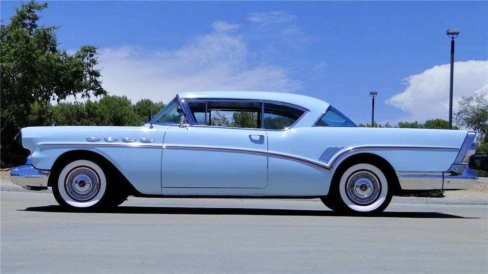 1957 BUICK SUPER RIVIERA 2 DOOR HARDTOP - Side Profile - 174752