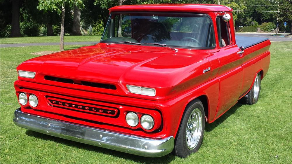 1961 CHEVROLET C-10 CUSTOM PICKUP - Front 3/4 - 174784