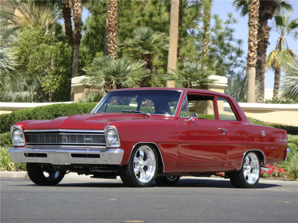 1966 CHEVROLET NOVA CUSTOM 2 DOOR HARDTOP - Front 3/4 - 174942