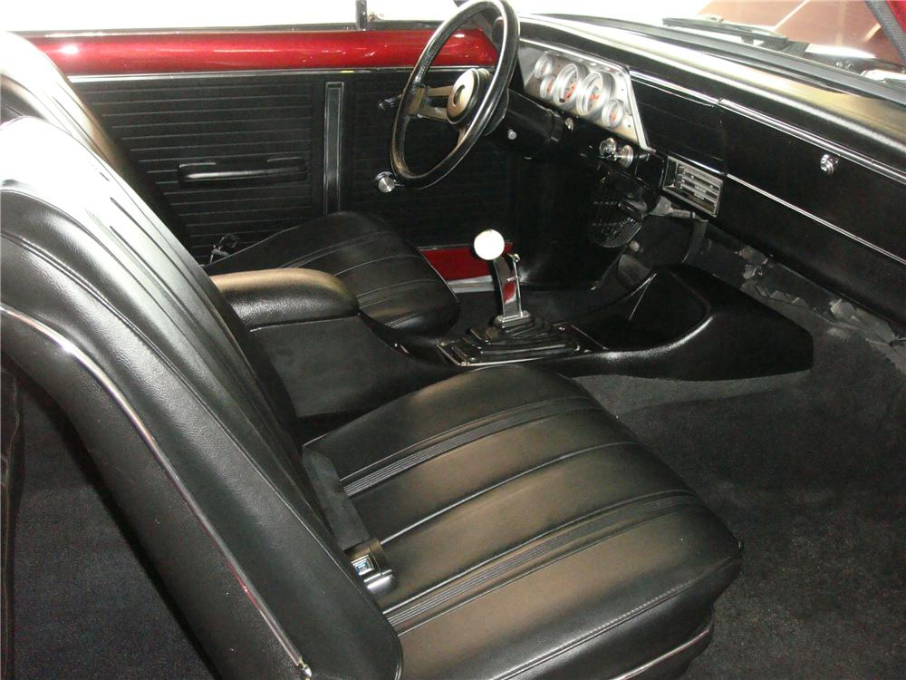 1966 CHEVROLET NOVA CUSTOM 2 DOOR HARDTOP - Interior - 174942