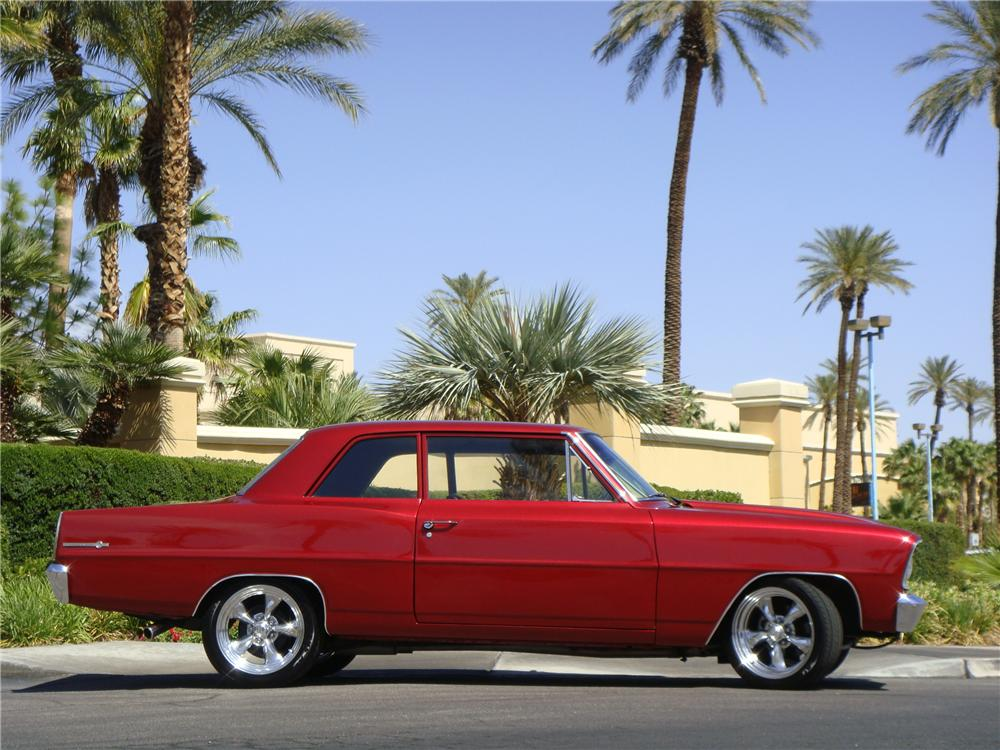 1966 CHEVROLET NOVA CUSTOM 2 DOOR HARDTOP - Side Profile - 174942