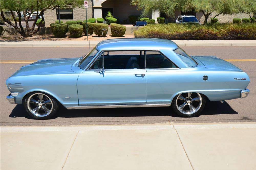 1963 CHEVROLET NOVA CUSTOM 2 DOOR HARDTOP - Side Profile - 174944