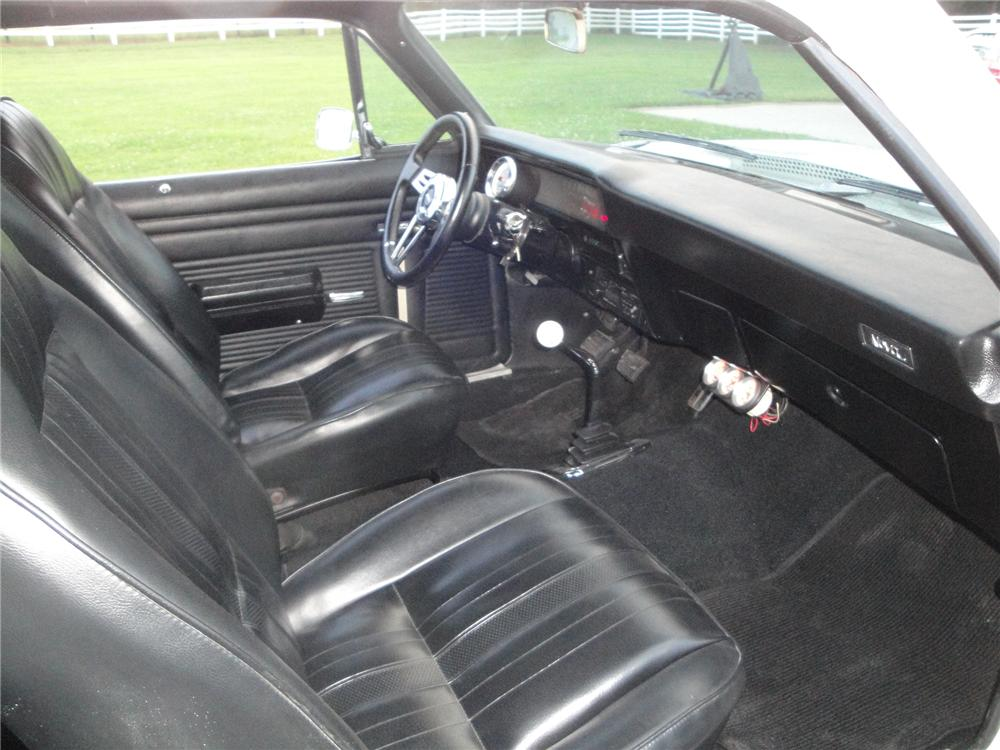 1970 CHEVROLET NOVA 2 DOOR COUPE - Interior - 175154
