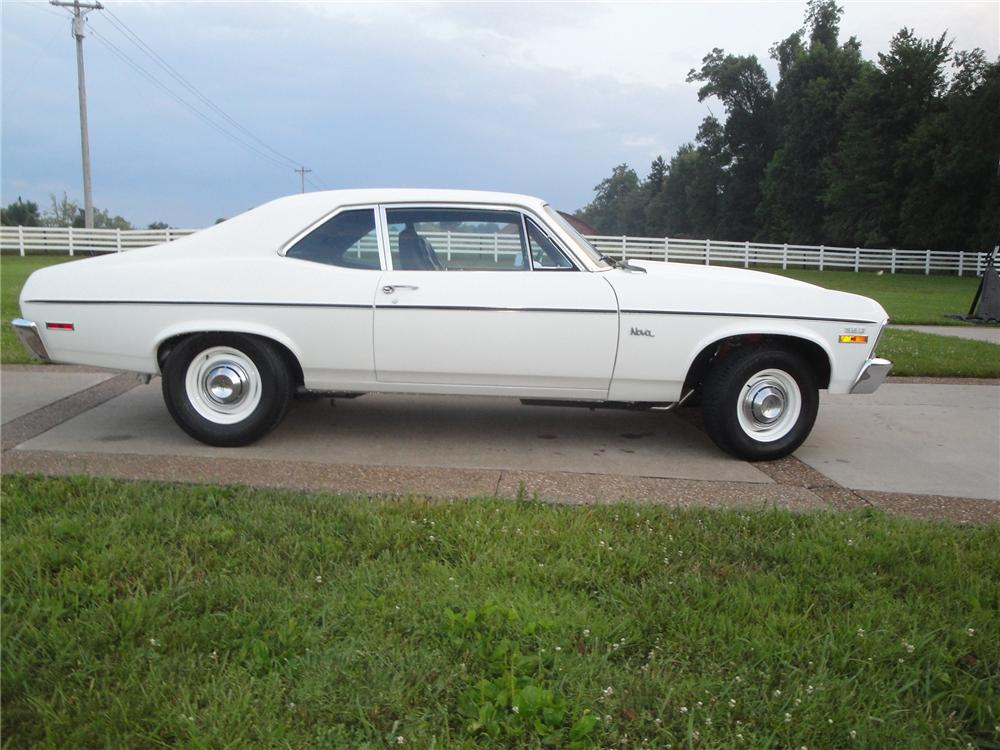 1970 CHEVROLET NOVA 2 DOOR COUPE - Side Profile - 175154