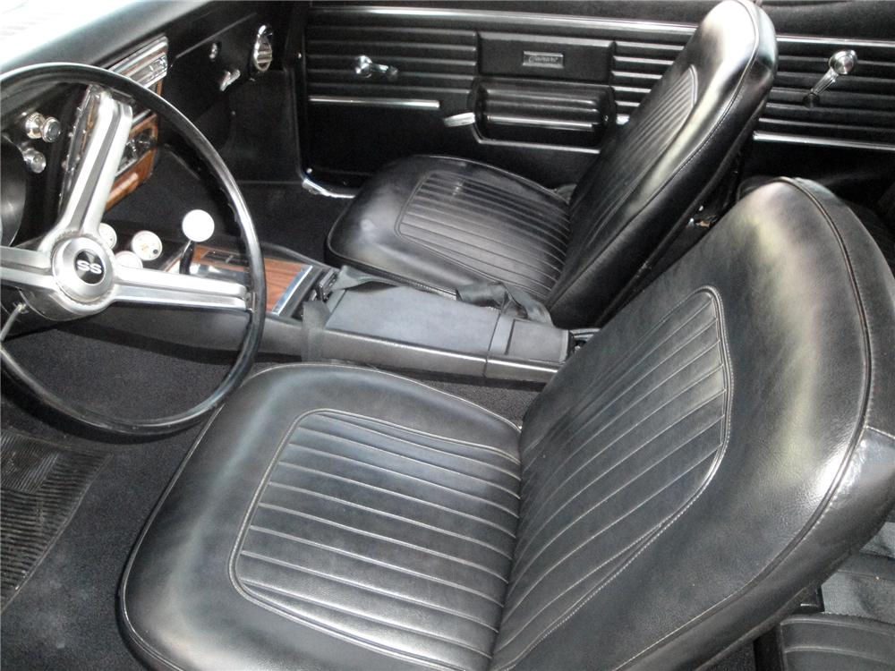 1968 CHEVROLET CAMARO 2 DOOR COUPE - Interior - 175155