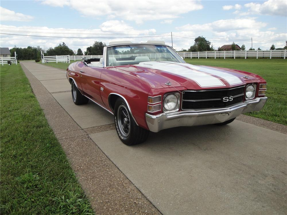 1971 CHEVROLET CHEVELLE CONVERTIBLE - Front 3/4 - 176892