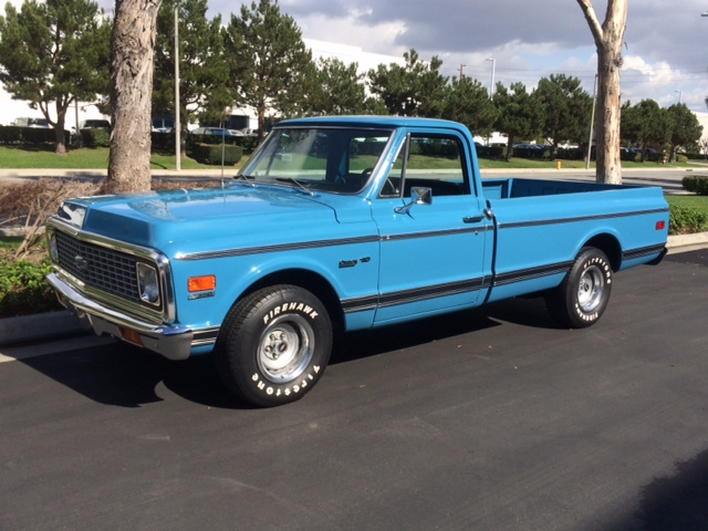 1972 CHEVROLET C-10 CUSTOM PICKUP - Side Profile - 176912