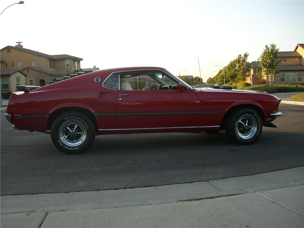 1969 FORD MUSTANG MACH 1 428 CJ FASTBACK - Side Profile - 176913