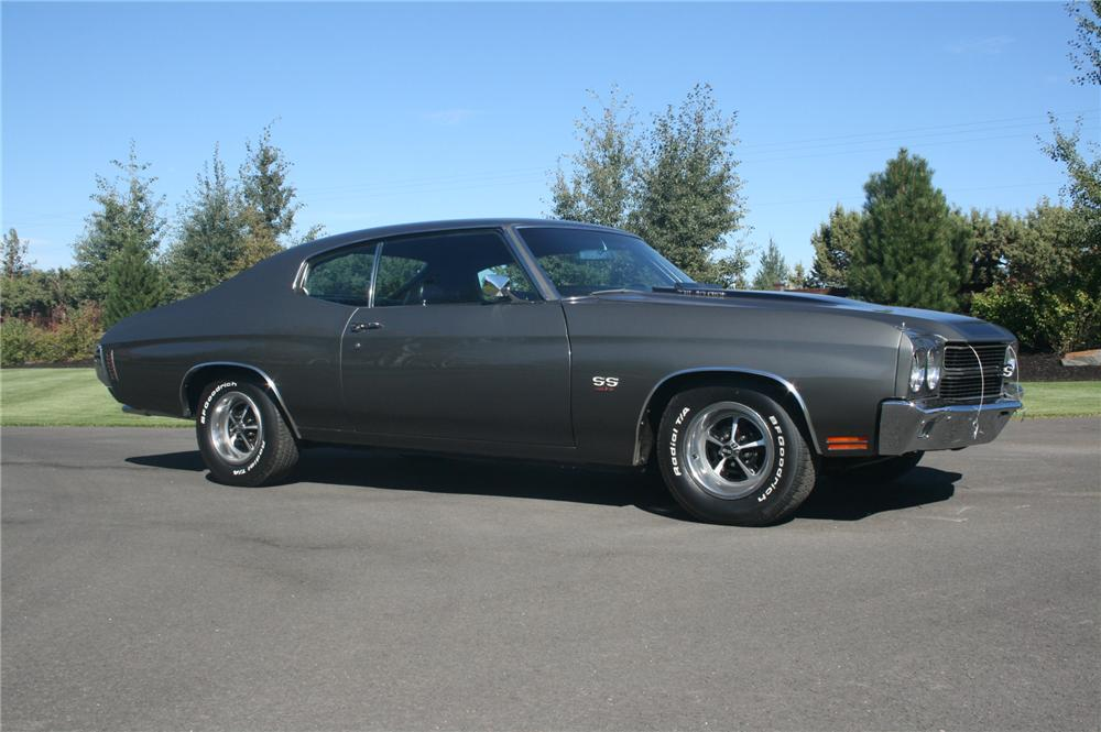 1970 CHEVROLET CHEVELLE SS LS6 2 DOOR HARDTOP - Side Profile - 176916