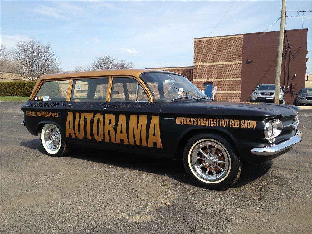 1961 CHEVROLET CORVAIR CUSTOM WAGON - Side Profile - 176924