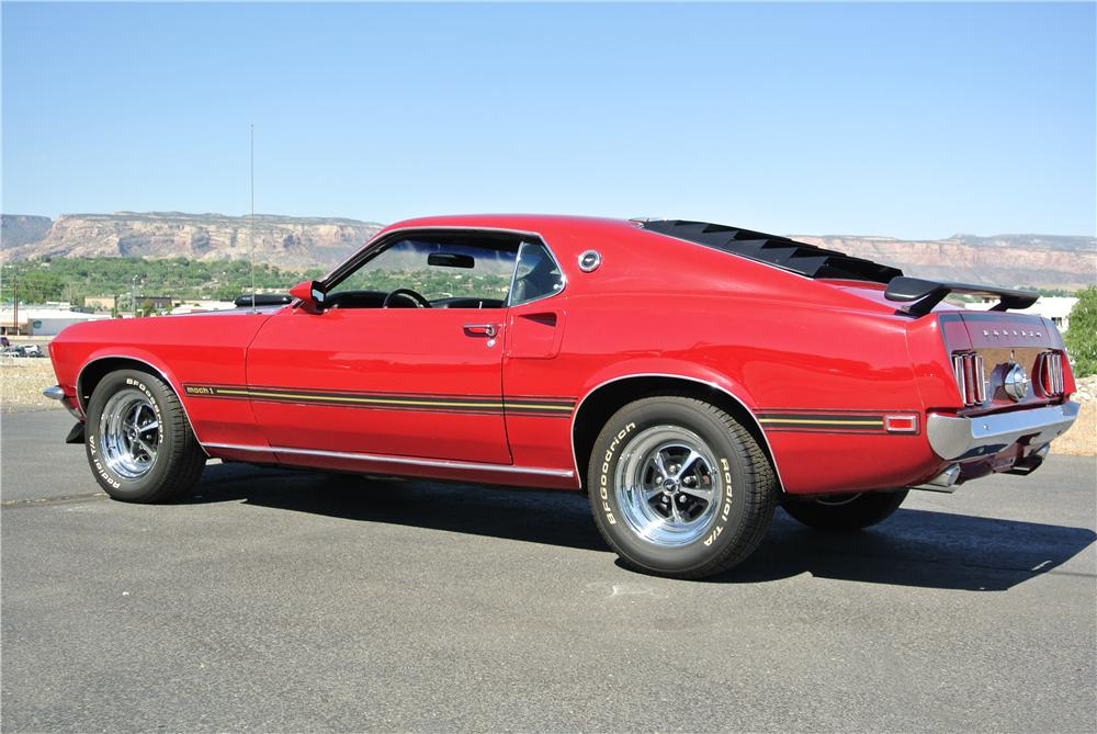 1969 FORD MUSTANG MACH 1 428 CJ FASTBACK - Rear 3/4 - 176931