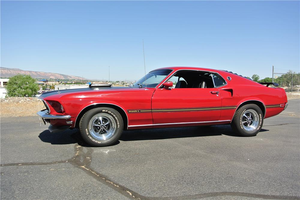 1969 FORD MUSTANG MACH 1 428 CJ FASTBACK - Side Profile - 176931