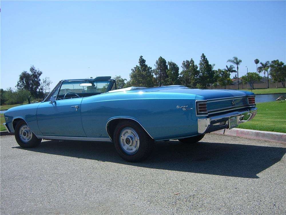 1967 CHEVROLET CHEVELLE SS 396 CONVERTIBLE - Side Profile - 176948