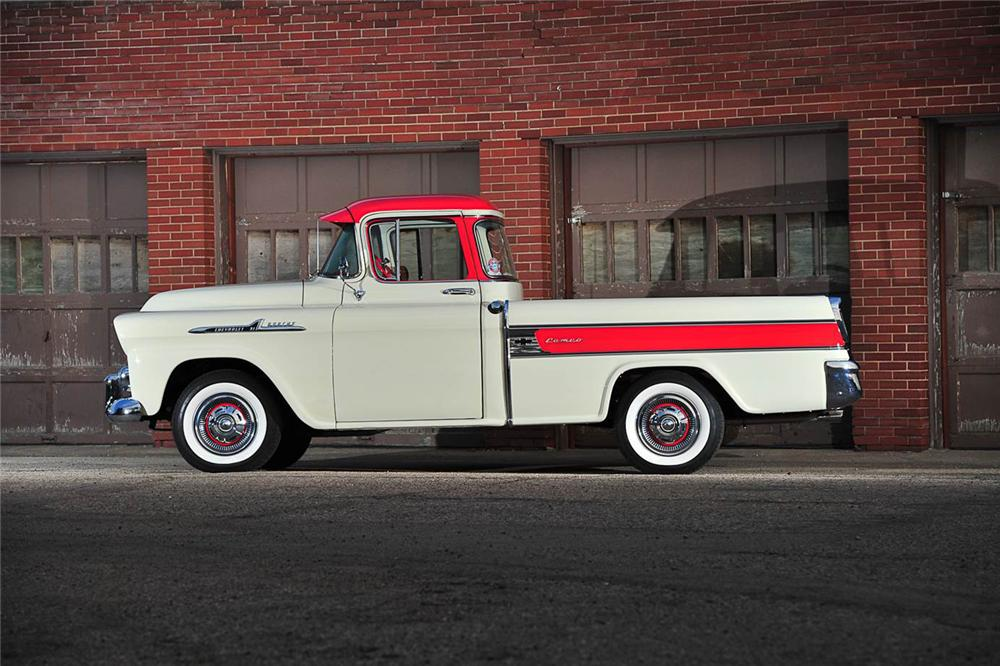 1958 CHEVROLET CAMEO PICKUP - Side Profile - 176957