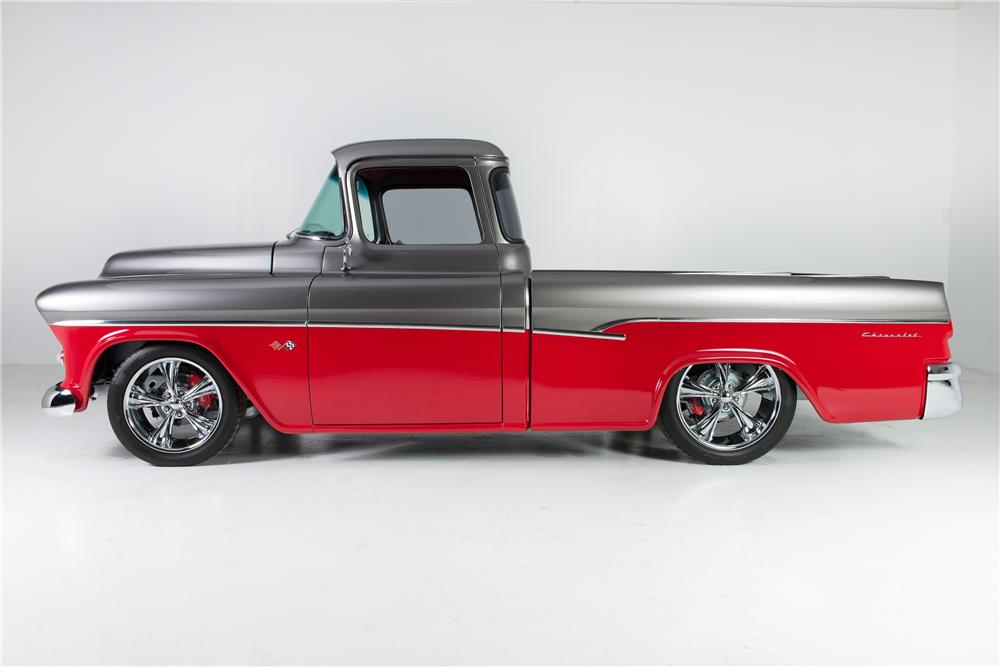 1955 CHEVROLET CAMEO CUSTOM PICKUP - Side Profile - 176964