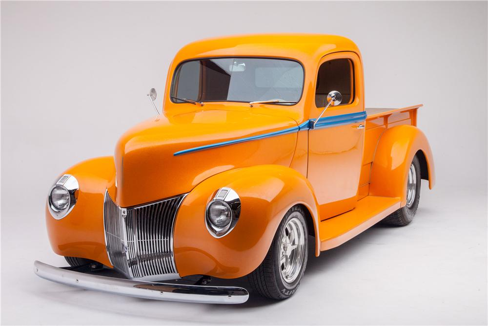 1940 FORD 1/2 TON CUSTOM PICKUP - Front 3/4 - 176978