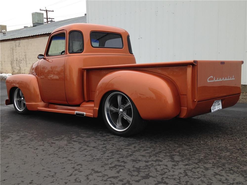 1955 CHEVROLET 3100 CUSTOM PICKUP - Rear 3/4 - 176983