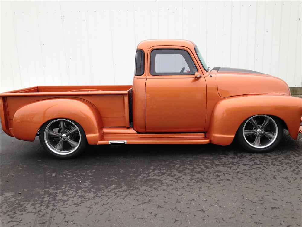1955 CHEVROLET 3100 CUSTOM PICKUP - Side Profile - 176983