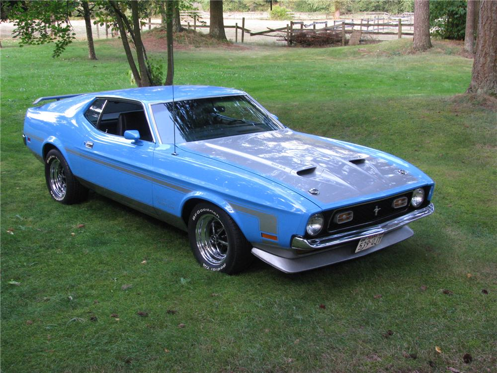 1971 FORD MUSTANG BOSS 351 FASTBACK - Front 3/4 - 176998