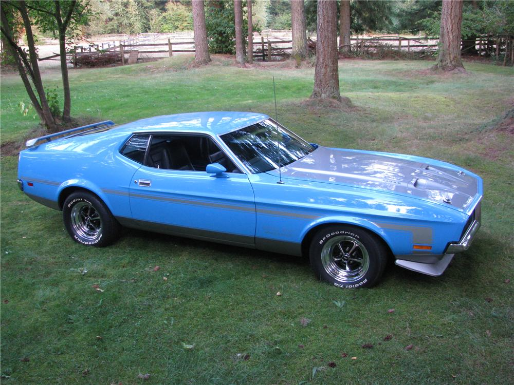 1971 FORD MUSTANG BOSS 351 FASTBACK - Side Profile - 176998