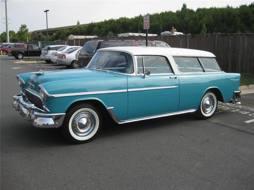 1955 CHEVROLET NOMAD STATION WAGON - Side Profile - 177008