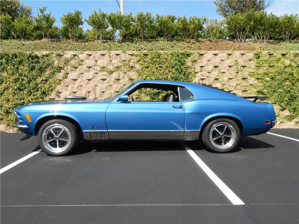1970 FORD MUSTANG MACH 1 FASTBACK - Side Profile - 177022