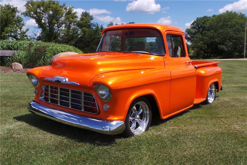1957 CHEVROLET 3100 CUSTOM PICKUP - Front 3/4 - 177031