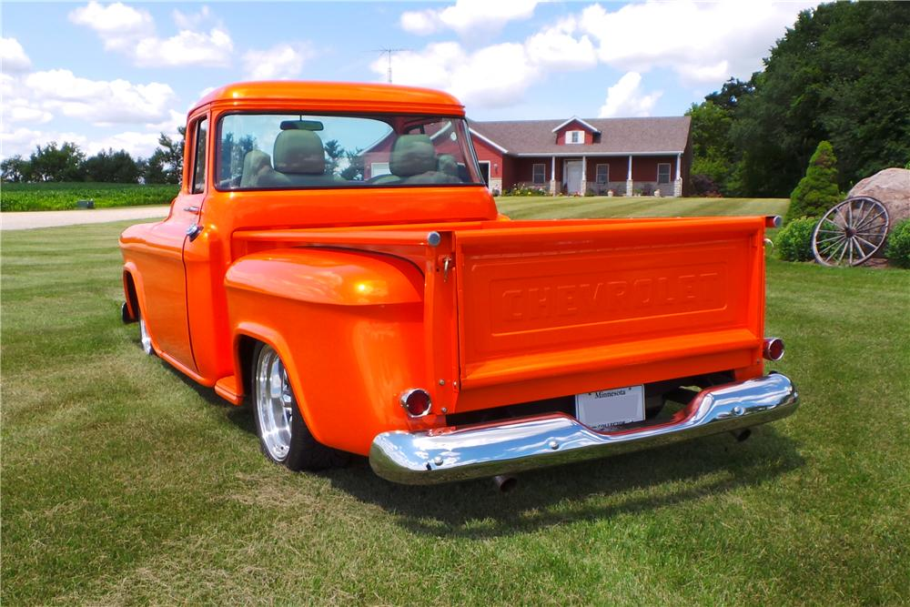 1957 CHEVROLET 3100 CUSTOM PICKUP - Rear 3/4 - 177031