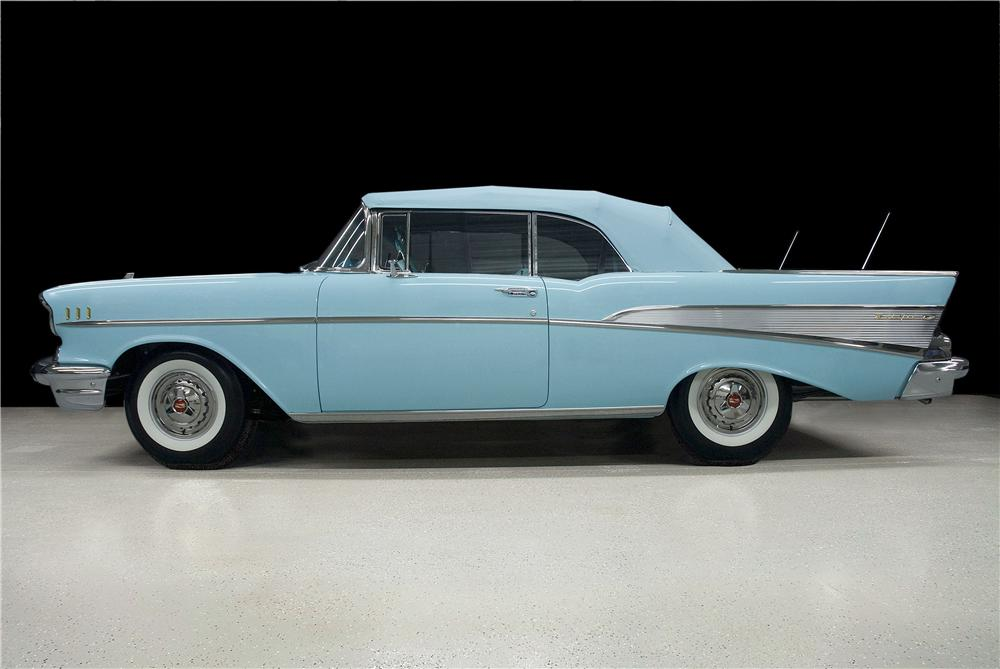 1957 CHEVROLET BEL AIR CONVERTIBLE - Side Profile - 177039