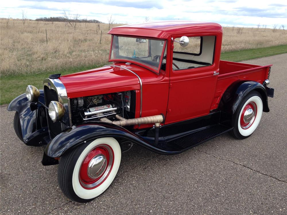 1930 FORD CUSTOM PICKUP - Front 3/4 - 177050