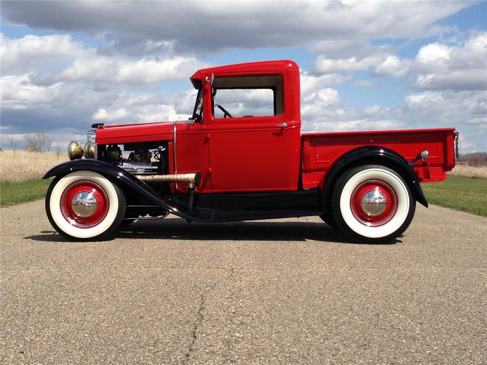 1930 FORD CUSTOM PICKUP - Side Profile - 177050