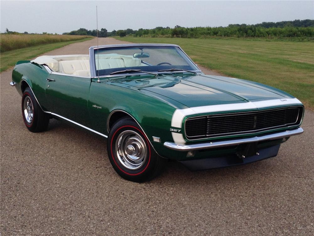 1968 CHEVROLET CAMARO RS CONVERTIBLE - Front 3/4 - 177051