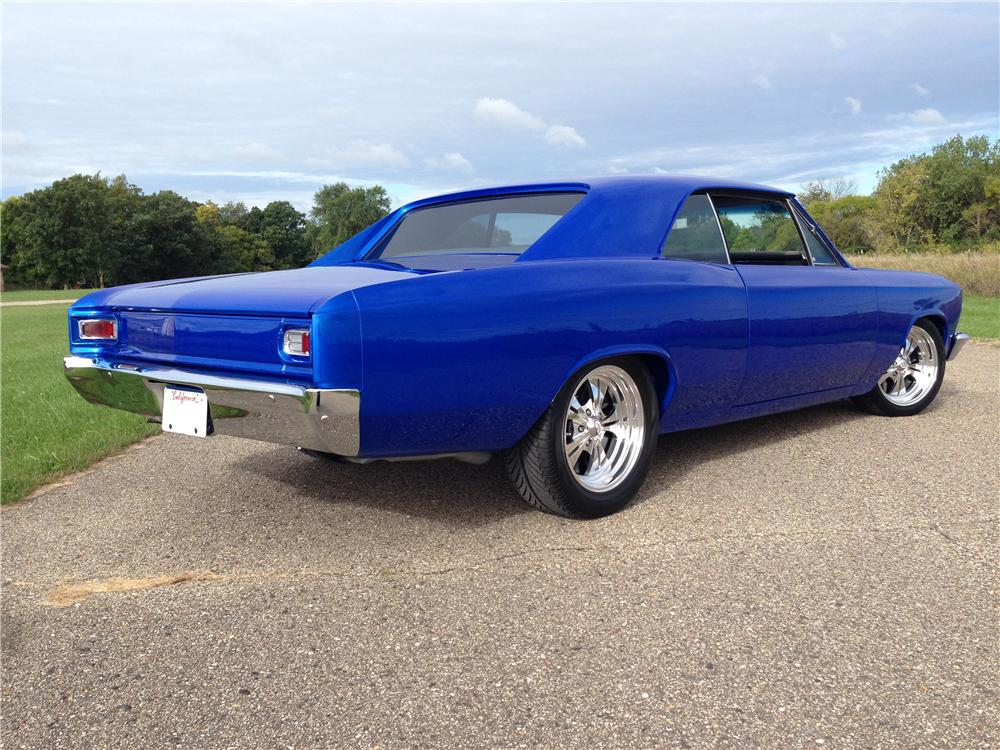 1966 CHEVROLET CHEVELLE CUSTOM 2 DOOR COUPE - Rear 3/4 - 177053