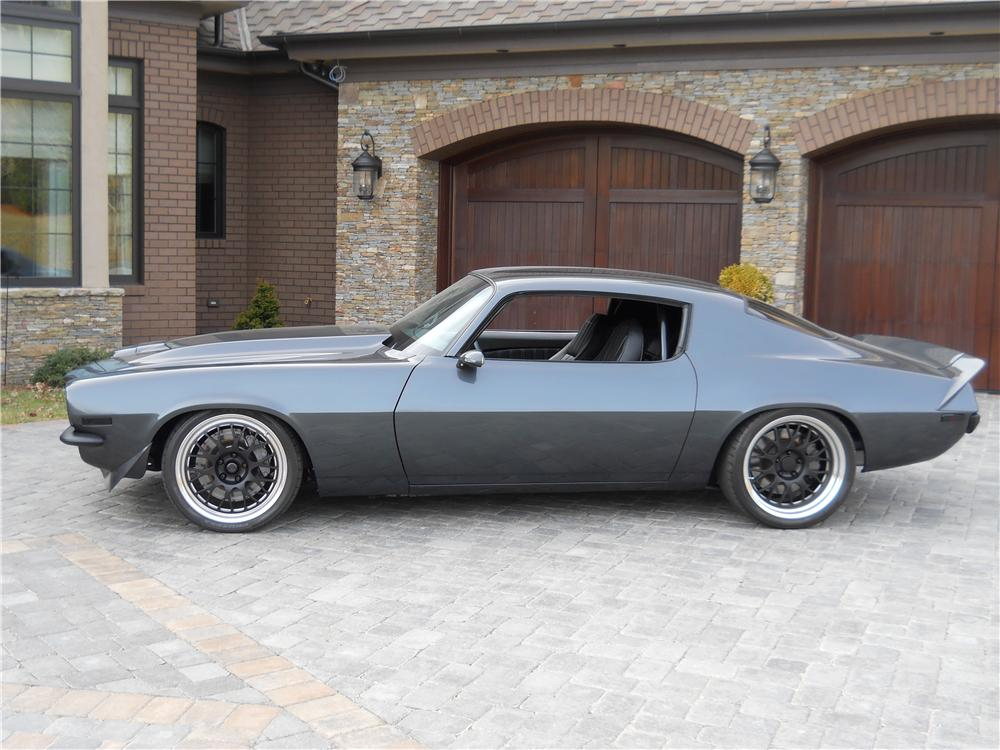 1972 CHEVROLET CAMARO CUSTOM 2 DOOR COUPE - Side Profile - 177057